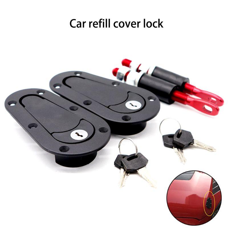 Гоночный автомобиль из углеродного волокна цветной колпачок Pin Plus заподлицо Защелка комплект замок с ключами