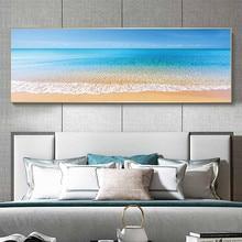 Belle plage sous le soleil peinture toile affiches imprime Cuadros mur Art photos pour salon chambre décoration