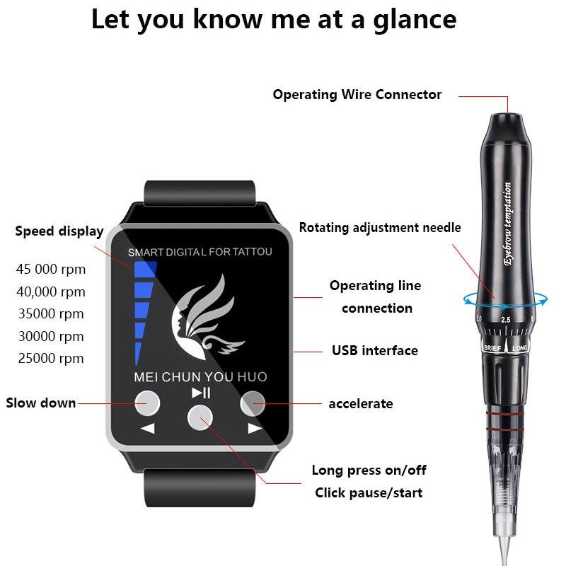 Machine permanente professionnelle de tatouage de sourcil de maquillage avec le dispositif de Micropigmentation de panneau de commande numérique