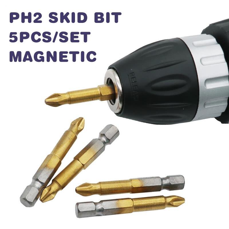 Accesorios de herramientas de llave de enchufe práctico portátil de aleación de acero oro plata broca de conexión magnética poste destornillador