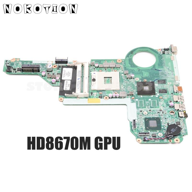 NOKOTION 713258-001 713258-501 DA0R62MB6E0 Pour HP Pavilion 14-E 15-E Ordinateur Portable carte mère HM76 DDR3 HD8670M Vidéo carte 1 GO