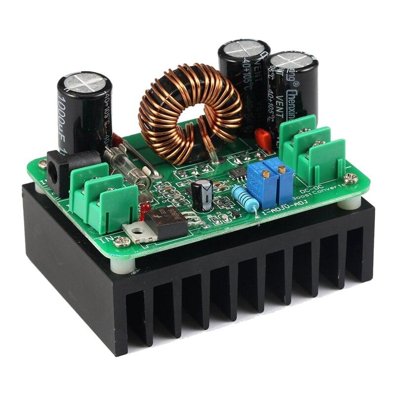 Gran oferta, convertidor Boost DC/DC de 10-60V a 12-80V, regulador de voltaje de aumento de 600W, transformador de fuente de alimentación automática, salida ajustable V