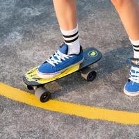 four wheel skateboard anti skid wear resistant transparent sand small fish board novice beginner childrens street brushing
