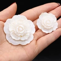 1pcs natural shell petal shape charms pendants for jewelry making earring necklace women girls gifts size 33x33mm 47x47mm