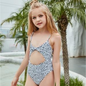 2021 One Piece Swimsuit Kids Cute Swimwear Summer Beachwear Female Bathing Suit High Waisted Swim Wear 130-160