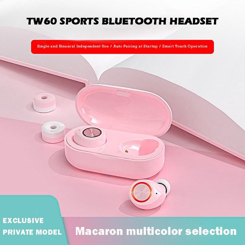 LIGE TWS Bluetooth наушники бинауральные наушники с сенсорным шумоподавлением настоящие беспроводные наушники для ПК ноутбука розовый милый подарок для девочки