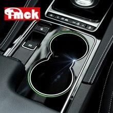 Autocollant de revêtement dhabillage de cadre de support de verre deau avant de Console centrale daccessoires de style de voiture dabs pour Jaguar XE X760 F-PACE f pace X761