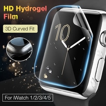 Película protectora para pantalla hidrogel para Apple Watch 5 4 3 2 1 Smart Watch cobertura completa película protectora para Iwatch 40MM 44MM 38MM 42M