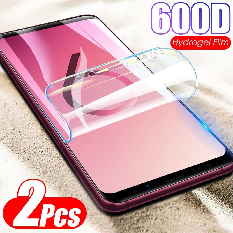 Película de hidrogel sin cristal 600D, 2 unidades, para Samsung Galaxy Note 10 Plus 8 9 S9 S8 S10 Plus S10E, Protector de pantalla, película protectora suave