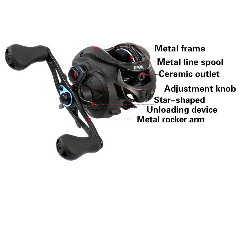 6.3:1 High Speed Baitcast Fishing Reel Black Fish Rock Wedkarstwo Wheels Metal Fishing Vessel 8KG Max Drag Carrete De Pesca enlarge