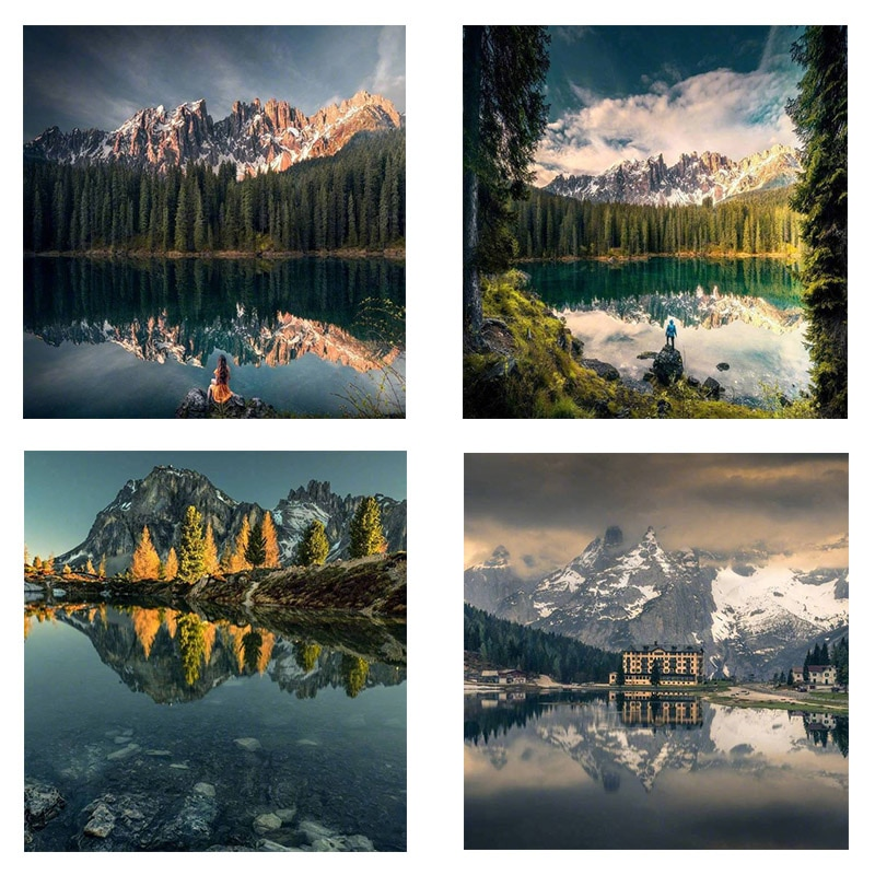 5d Diy Landscape Diamond Painting Full Drill Round Embroidery Sale Pictures With Rhinestones Hobby Handmade Room Decor