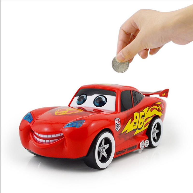 Cartoon Cute Red Car Piggy Bank Kids Toys Money Box Saving Deposit Boxes Electronic Enfant Children Cash Coin Safe Car Alcancias