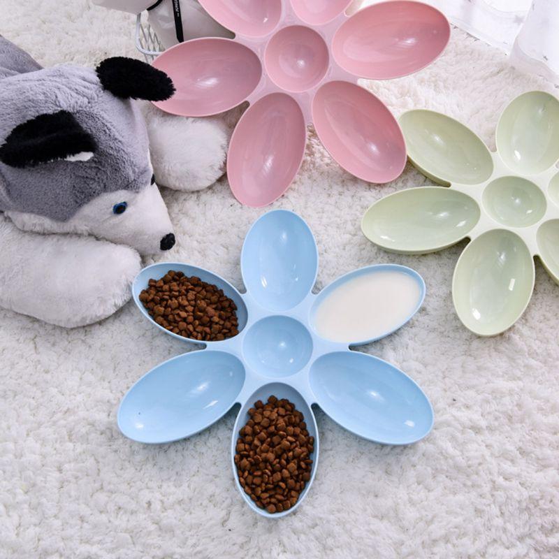 6 In 1 Pet Bowls Food Feeder Dog Puppy Cat Water Feeding Bowl Healthy Diet Dish