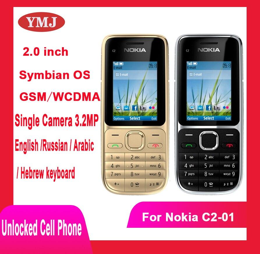 Перейти на Алиэкспресс и купить Добавить в «Мои желания» оригинальный Nokia C2 C2-01 разблокирована GSM мобильный телефон на английском языке и арабский и иврит и русская клавиат...