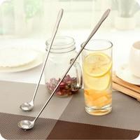 30CM Stainless Steel Long Handle Stir Spoon Creative Ice Cream Dessert scoop Korean Cocktail Coffee tea mixing Spoon Flatware