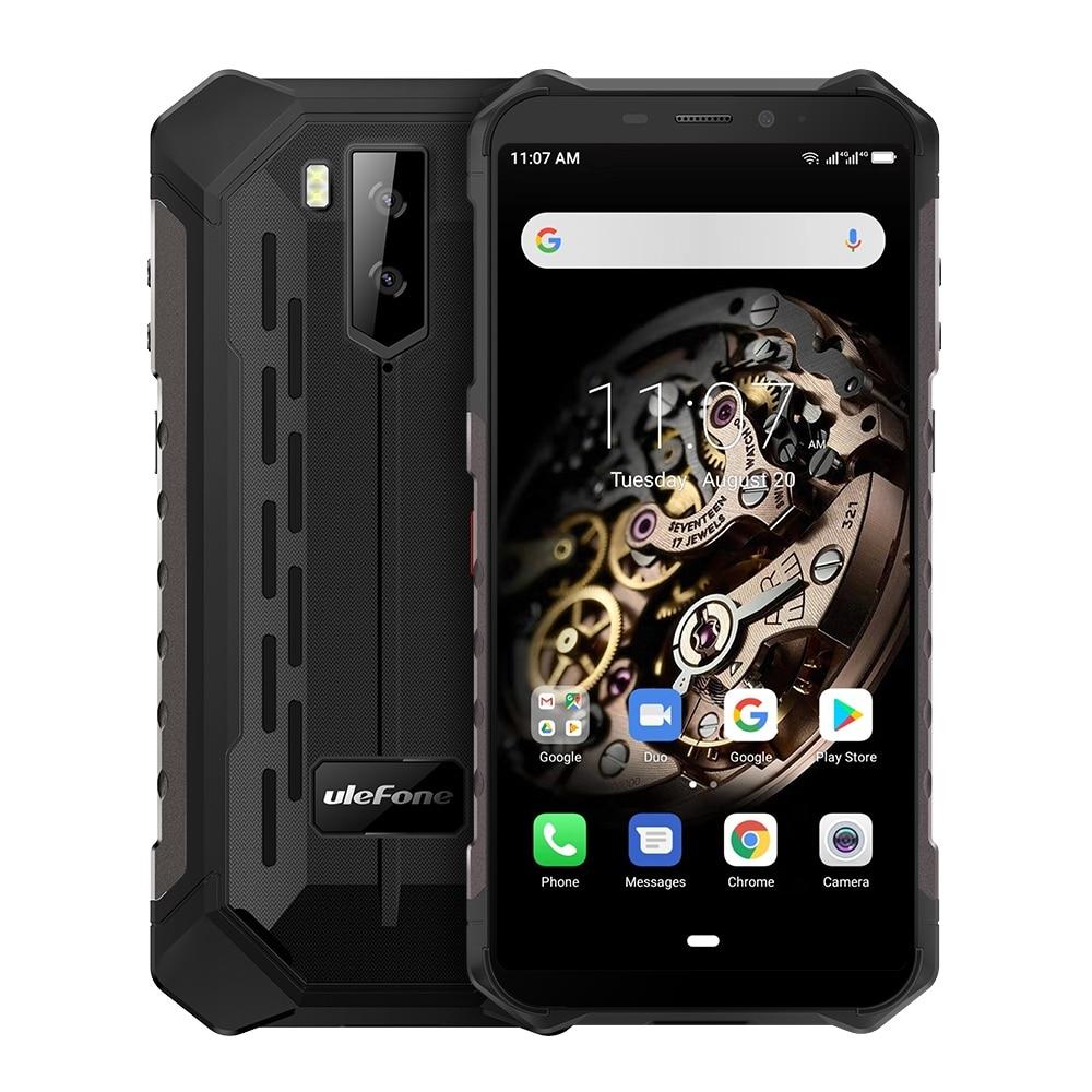 Перейти на Алиэкспресс и купить Ulefone Power X5 прочный мобильный телефон 5,5 дюймAndroid 9,0 MTK6763 Восьмиядерный мобильный телефон 3 ГБ + 32 ГБ Face ID 5000 мАч OTG NFC Смартфон