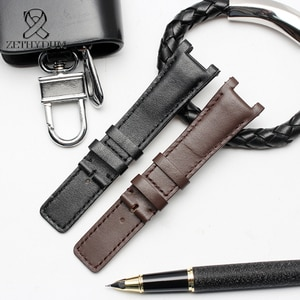 Comfortable Sports Notched leather watch band for 1332 1333 1335 22mm 20mm 16mm Vintage Genuine handmade leather bracelet
