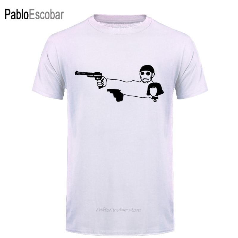 Moda película León el profesional T Shirt hombres mujeres León Teach Matilda Shoot superior camisetas Hip Hop Rock algodón O cuello camiseta