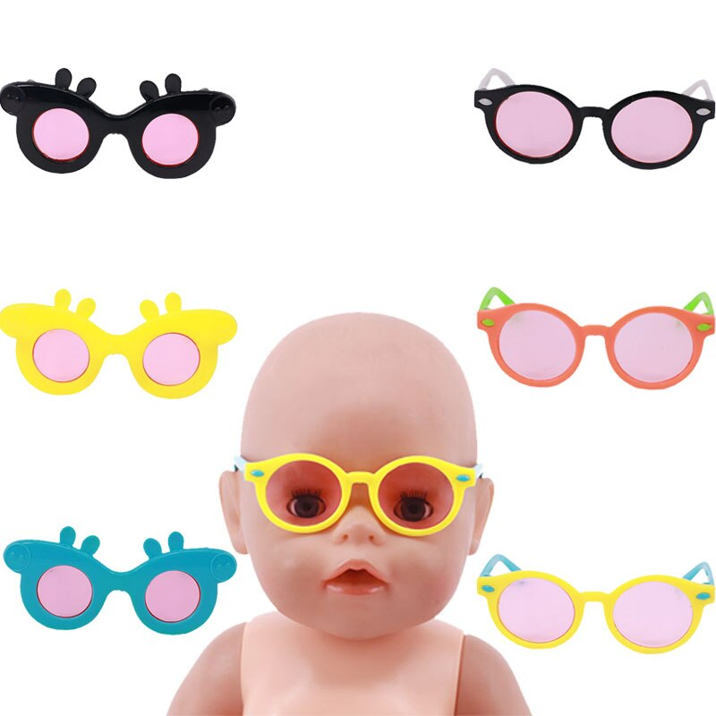 Multicolor Doll Glasses Frame Resin Accessories  For 18 Inch & 43 Cm Doll Accessories Generation Girl's And Boy's Toy Gift cute resin bride and bridegroom toy doll