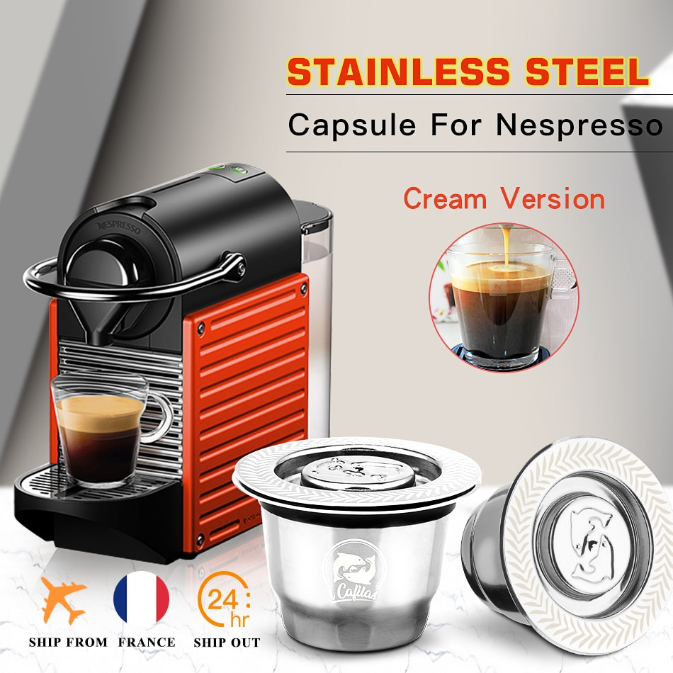 ICafilas For Refillable Nespresso Coffee Capsule Crema Espresso Reusable New Refillable For Coffee Filter
