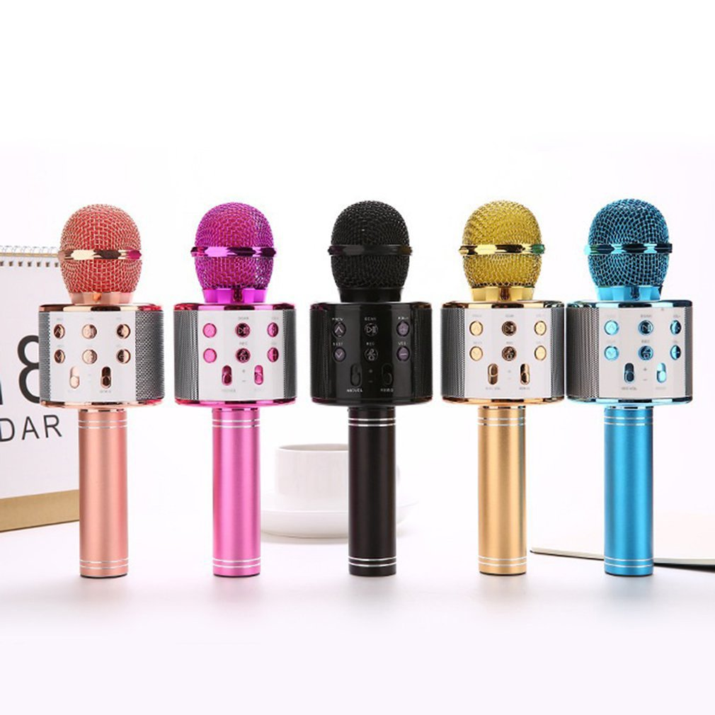 Home KTV Computer Microphone Singing Live K Song Microphone Audio Condenser Durable Practical Wireless Microphone
