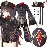 Genshin воздействия Ху Тао Косплей Hutao к костюмам обувь игровой костюм наряды в стиле аниме платье Хэллоуин униформы для женщин