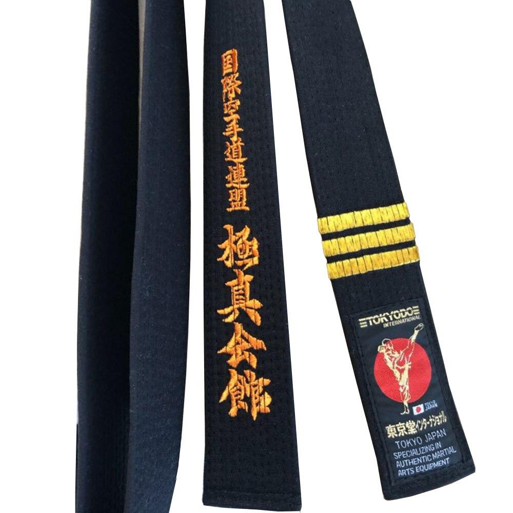 Cinturones profesionales de alta calidad de kyushin Kai, kárate japonés, cinturones Kanji Kyokushin Kai Kan bordados, cinturones japoneses, cinturón de Karate