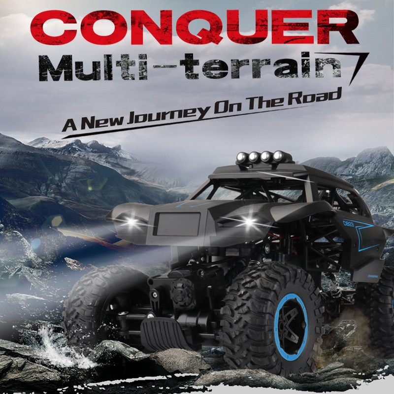 2021 New Outdoor toys off-road shock proof wireless big foot monster six wheel climbing car enlarge