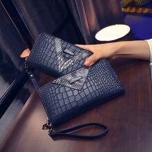 2020 New Long Women Wallets Crocodile Pattern Women Purse Best Phone Case Wallet Female Coin Purse Money Bag Card Holders