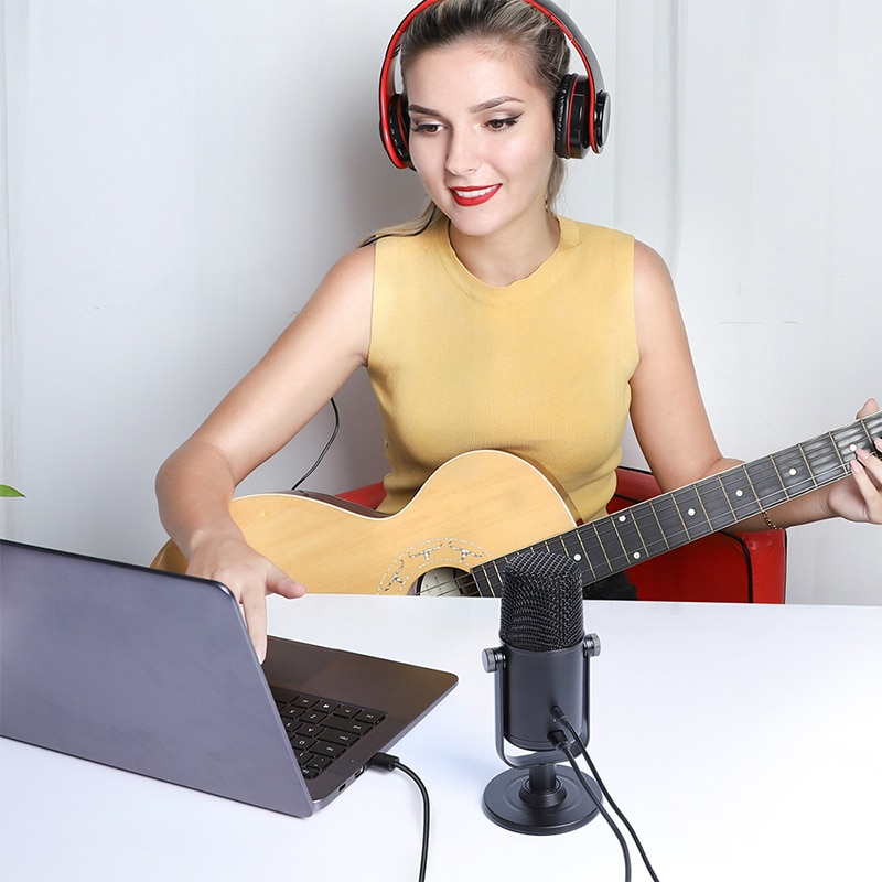 Original AU-902 USB Condenser Microphone Cardioid Sreaming Mikrofon Podcast Studio Mic Metal Recording Microfone For YouTube enlarge