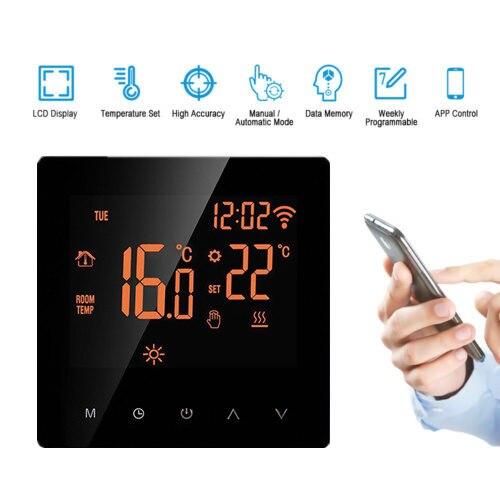 Termostato inteligente WiFi pantalla LCD pantalla táctil Control APP programable temperatura ambiente controlador para el hogar Oficina Hotel