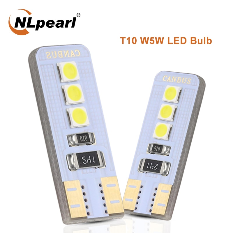 10x newest t10 194 168 w5w 6smd 5730 car led silicone shell auto dome parking lights car side wedge light lamp bulb car styling NLpearl Signal Lamp T10 W5W 194 168 LED Bulb W5W Led Canbus 3030 6SMD Car Wedge Clearance Lamp Interior Parking Light 12V White