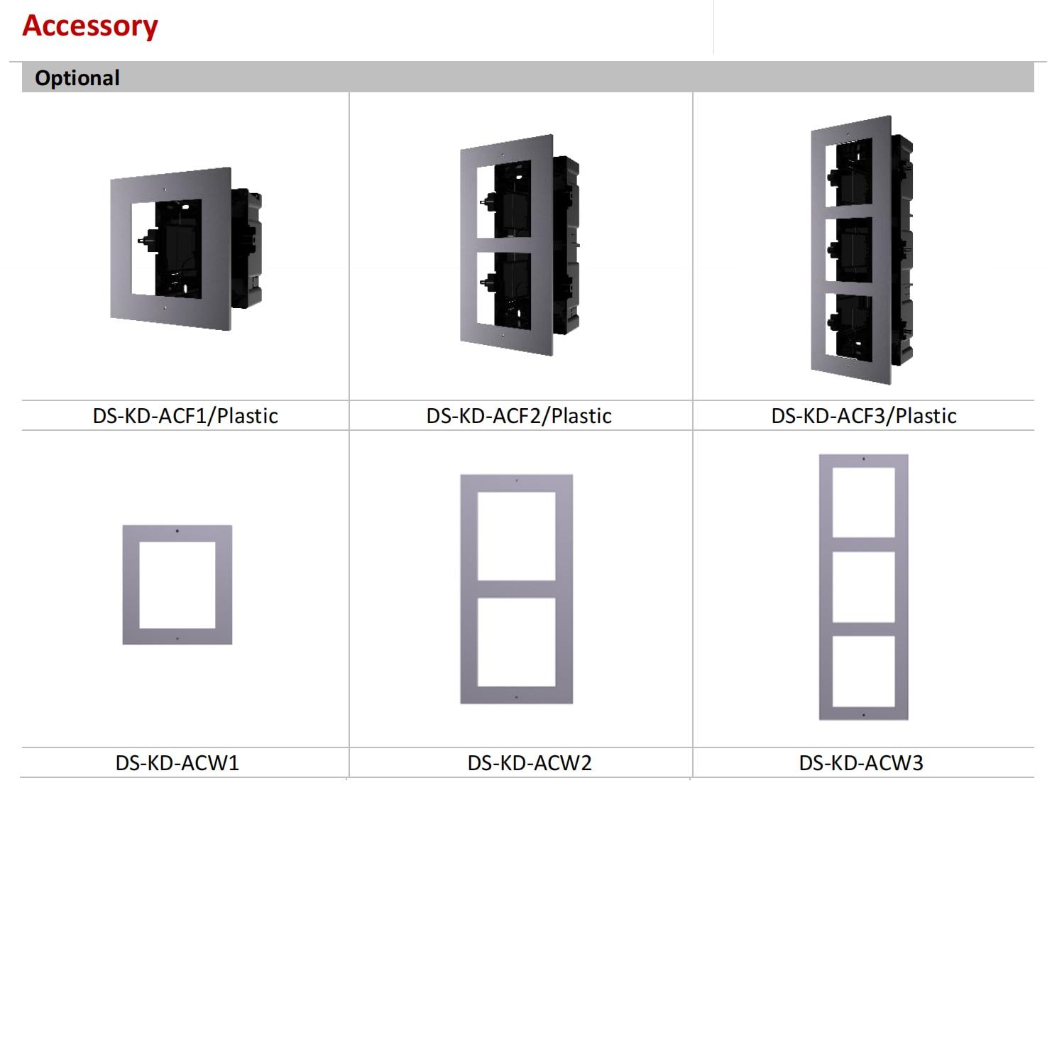 Original Hikvision DS-KD-KP Modular Door Station Keypad Module Video Intercom Accessory For DS-KD8003-IME1 enlarge