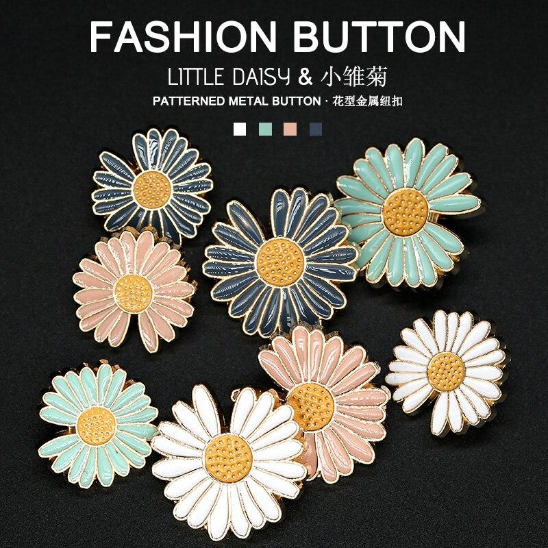 Металлические металлические кнопки для одежды, декоративные украшения из сплава в виде цветов, винтажные пряжки для шитья, аксессуары для одежды, 20 мм, 25 мм