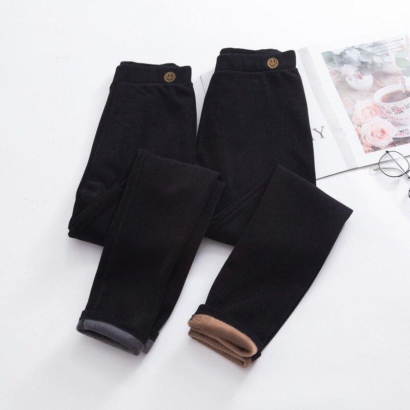 Женские осенне-зимние леггинсы с бархатной подкладкой, теплые брюки, тонкие, большого размера, облегающие брюки с высокой талией