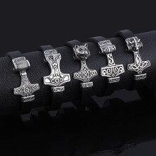 Bracelets classiques nordiques Viking Bracelets en acier inoxydable Woft tête de Lion amulette aimant manchette Bracelets pour hommes femmes bijoux cadeau