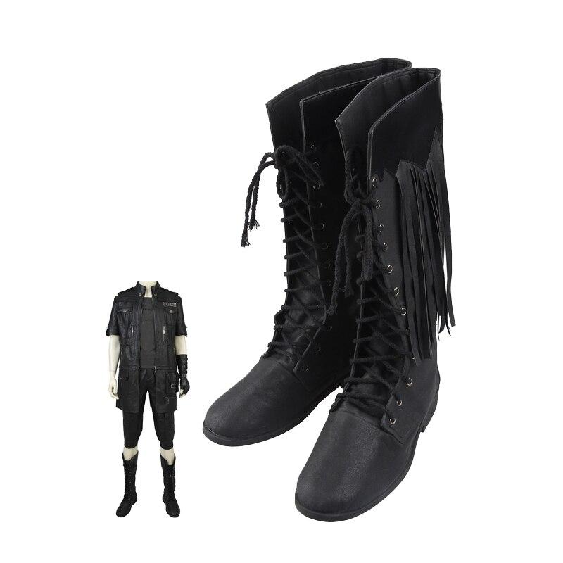 الكبار الرجال لعبة FF XV تأثيري حلي Noctis لوسيس الأدوار موضة كول أحذية هالوين كرنفال إكسسوارات أحذية