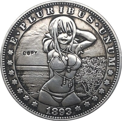 Копия монеты доллара США Моргана Хобо никель 1893-S