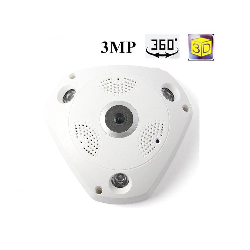 Панорамная камера IP 3MP 360 градусов двухсторонняя аудио Wifi камера Wi-Fi Домашняя безопасность беспроводная камера видеонаблюдения Мини камера ...