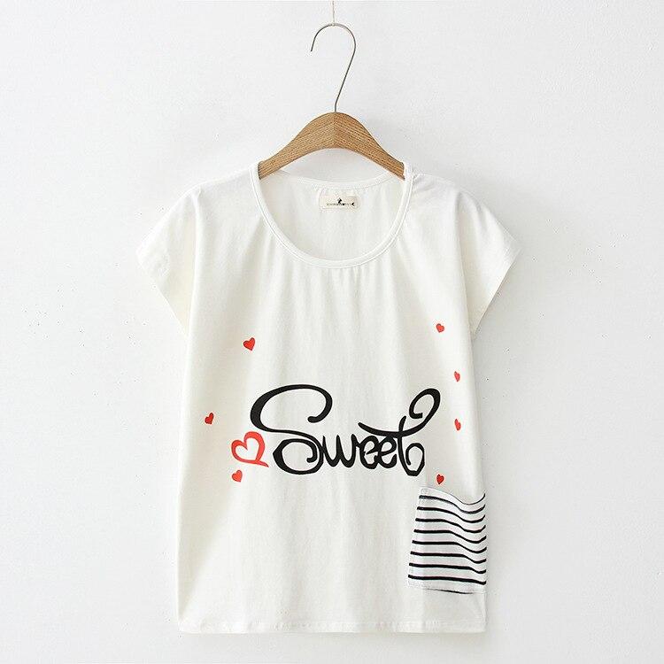 ¡Novedad de 2020! Camiseta de verano con bordado floral para mujer