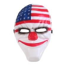 4 pièces/lot Halloween Cosplay Payday 2 masque Dallas/loup/chaînes/Hoxton horreur tronçonneuse Clown mascarade masques