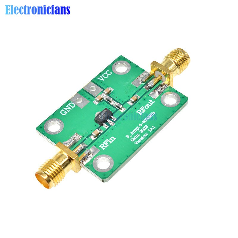 5-3500 mhz de banda larga rf amplificador de banda larga rf módulo de placa de amplificador de baixo nível de ruído lna 5-3500 mhz ganho 20db