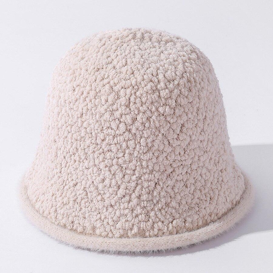 Женская панама YQYXCY, зимняя Рыбацкая Кепка, Корейская однотонная Повседневная зимняя шапка с вращающимся козырьком для девушек