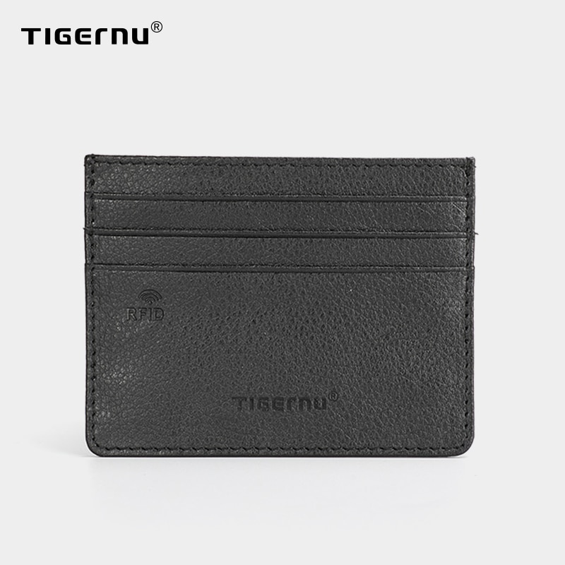 Tigernu RFID Anti-theft Card Bag Ultra-thin Men Card Holder Light Weight Artificial Leather Male Small Wallet Mini Purse For Men