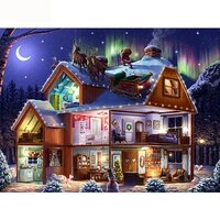 diamond embroidery santa claus 5d diy diamond painting christmas landscape picture of rhinestone winter home decor hobby gift