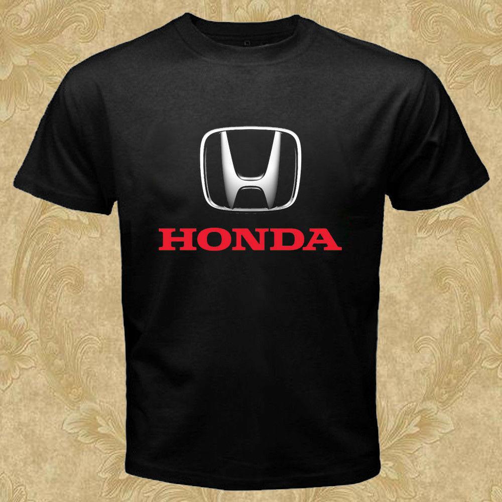 Honda Logo Cars T-Shirt Black New
