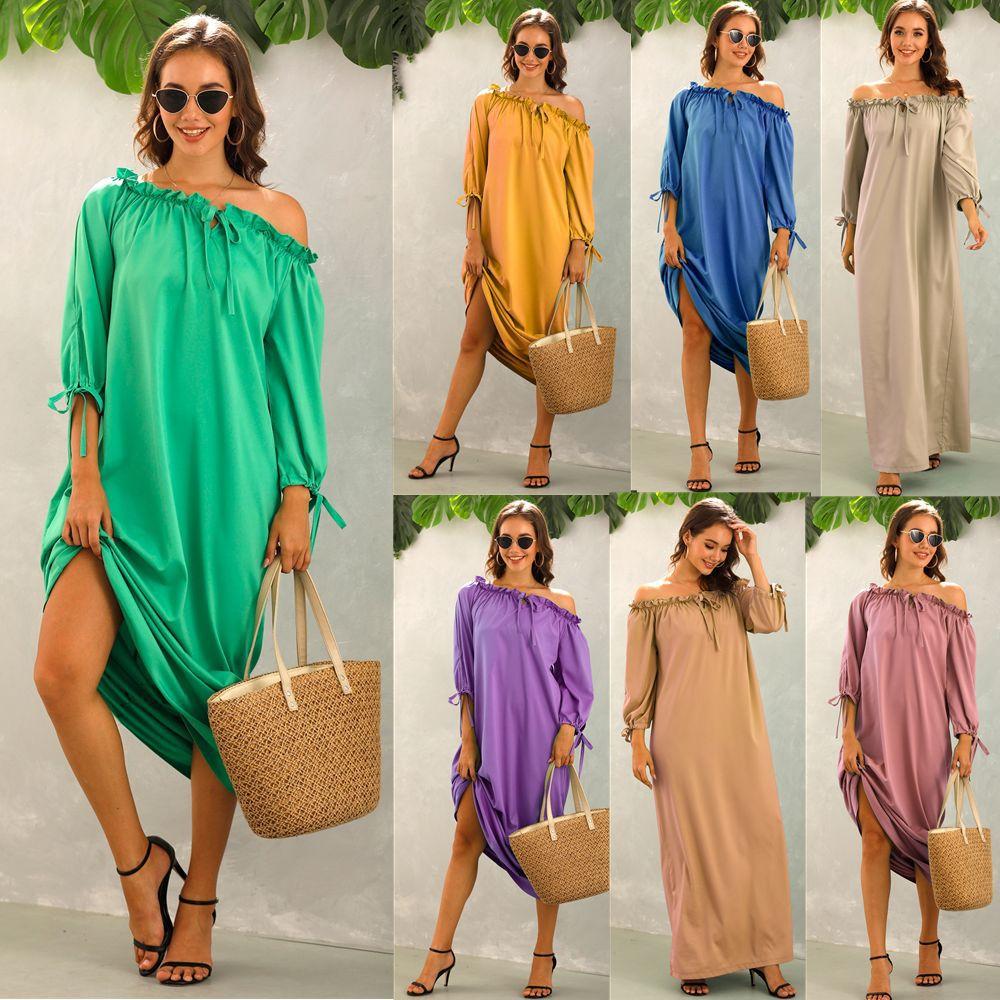 Импортные товары, женское свободное платье 2021