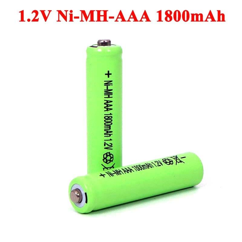4 шт. 1,2 в ni-mh AAA аккумуляторные батареи 1800 мАч ni mh батарея 1,2 в aaa для электрического дистанционного управления автомобиля игрушка RC ЕЭС