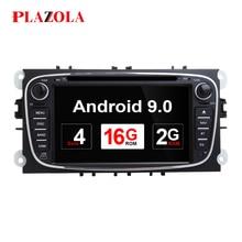 Autoradio 2 Din Android 9.0   Pour FORD/Focus/Mondeo/2008/2011/Galaxy, lecteur DVD multimédia, GPS-