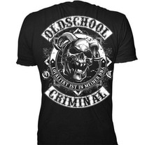 Old School Criminal T Shirt Patch 3 Streetwear Badboys B Se Buben Print Casual Funny Design T-shirt Men Brand